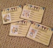 Peter Rabbit Party Invitations x 12 vintage tea party Baby Shower ..