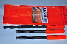 THREAD FILE 3PC SET AE2573 LANG TOOLS A&E THREAD FILE RESTOR 3PC SET Made in USA