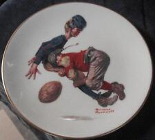 Saturday's Hero, Norman Rockwell- 1978 Danbury Mint Gorham Collectible Plate COA