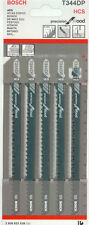 Bosch t344dp Jigsaw cuchillas de precisión para madera 2608633a36 Pack De 5