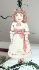 Double-sided Girl Doll Paper Christmas Ornament. World War I. Usa.