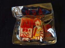 Vintage McDonald's Lapel Pin 1988 Olympic Center Ronald McDonald NIP
