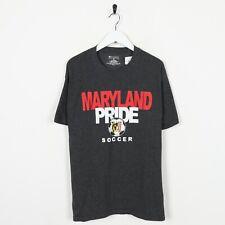 Vintage Champion USA Maryland Pride Calcio T-Shirt Grigio Medio M