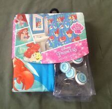 "Disney Princess The Little Mermaid Shower Curtain Set with 12 Hooks 72"" x 72"""