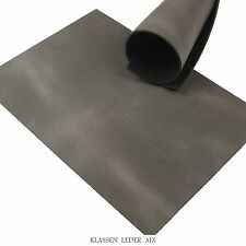 Büffelleder Grau Pull-Up 3,5 mm Dick Vegetabil Rindsleder A4 Leather 211