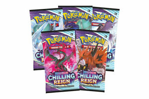 Pokemon TCG : 1x Chilling Reign Booster Pack - NEW (Buy 10 Get 1 Free)