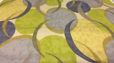 Blue Green Abstract Print Braemore Drapery Upholstery Fabric Ovation CL Citron