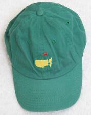 Masters Golf Tournament Hat Cap Adjustable Strapback Cotton Green YellowSolid