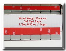 24 Pcs Stick on Self Adhesive Wheel Weights 1/2 0.50 OZ TOTAL 12 OZ RED 3M TAPE