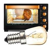E14 Oven Lamp Globe Light Refrigerator Bulb AC220-240V 15W/25W 300°C