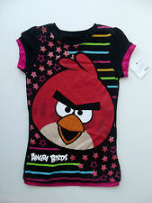 Angry Birds Girls Stars/Stripes Sparkly Graphic T-Shirt size Large NWT G82562