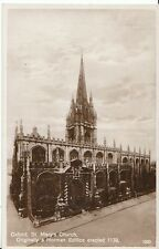 Oxfordshire Postcard - St Mary's Church - Real Photograph  ZZ151
