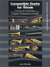 Compatible Duets For Winds Alto Saxophone Baritone Play Sax Bari Music Book