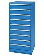 LISTA XSSC1350-0903 SC1350 9-Drawer Eye-Level Height Storage Cabinet, Standard D