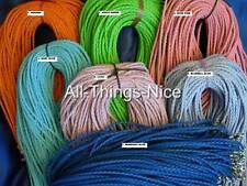 """LEATHERETTE 18"""" Necklace COLOUR Bolo Plait Strings Pendant Jewellery Cord 20"""