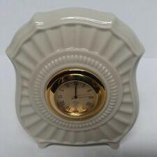 Lenox Porcelain Ivory Fluted Mini Mantle Clock