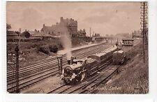 RAILWAY STATION, LARBERT: Stirlingshire postcard (C21761)