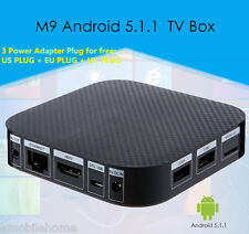 M9 TV Box Android 5.1 2.4GHz Amlogic S905 Quad-core Cortex A53 HD 2.0 1GB/8GB