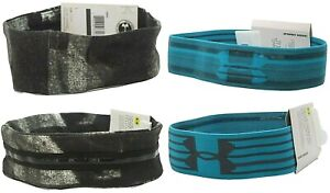 under armour running fitness headbands head band 2 pack new womens ladies girls