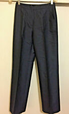 Alberta Ferreti Navy Blue Pants Size 6, Side Pockets, Silk & Cotton Blend,