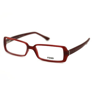 Fendi Women's Eyeglasses FF 882 608 Red Frame Glasses 52 15 135 Rectangle