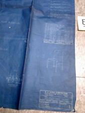 Blue Print	 General Utility Chair 1944 E. J. James Corp OH Canal Fulton VTG