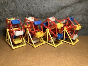 4 Lot  | Ferris Wheel for Parakeet | Toy/Treat Holder | Old Stock | Yellow - Red