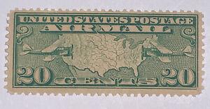 TRAVELSTAMPS: 1926-30 US Stamps Scott # C9 Map of U.S mint Original Gum