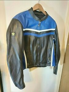 Belstaff Ladies Leather  Biker Jacket size 20 limited Edition.  Hand painted