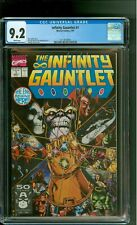 Infinity Gauntlet 1 CGC 9.2 NM- Thanos Avengers X-Men George Pérez cover Marvel