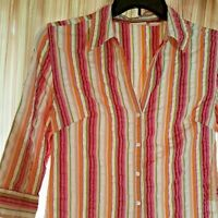 St. John's Bay Women's Stripes Shirt Blouse Top - Medium
