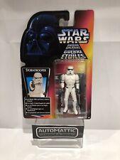 "Stormtrooper Thx Flyer 3-3/4"" Euro Carded Potf2 Kenner 1995 Star Wars Hasbro"