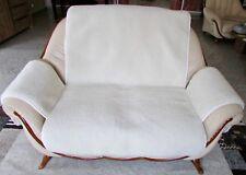 Housse de fauteuil,Canapé économiseur 2-sitze en blanc naturel BOUCLÉ,jeté ,100%