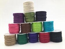 DIY 10m packaging gift chain paper label jute linen ribbon rope rope width 2MM