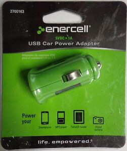 Enercell 5VDC-1A USB Car Power Adapter Green 2700163 -17