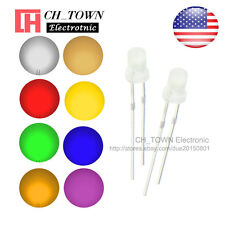 8kinds 160pcs 3mm LED Diodes Diffused White Color Red Blue Green Pink Mix Kits