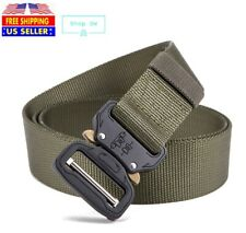 Casual Military Tactical Belt Mens Army Combat Waistband Rescue Rigger Belts DW