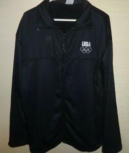 Olympic Committee jacket USA XXXL navy blue full zip 3XL Verdona