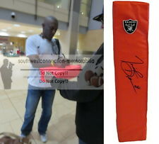 Tim Brown Oakland Raiders Signed Autographed Football End Zone Pylon Proof COA