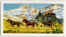 Wells Fargo Stage Coach American West Horse Transport  Vintage Trade Ad Card