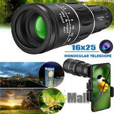 Bak4 16X25 Zoom Hd Lens Prism Hiking Night Vision Monocular Telescope&Phone Clip