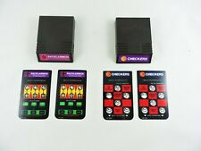 Backgammon and Checkers INTELLIVISION with Overlays board game cartridges skill