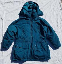 Eddie Bauer Goose Down Winter Coat Parka Green Women's L Large Used Snowline
