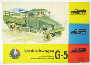 Rda Kranich Modellbogen Camion G-5 Trois Mis en Place 1963