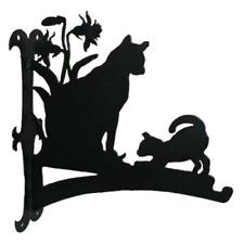 Cat and Kitten Hanging Basket Bracket
