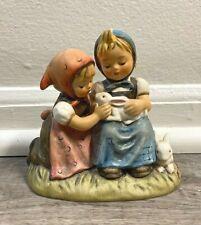 "New ListingGoebel Hummel Figurine ""Easter Time"" Tmk5 Sisters with Bunnies 384"