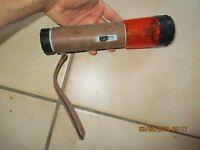 Ancienne lampe Torche Pile Leclanché Signalisation clignotante