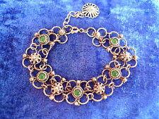 schönes, altes  Armband__Silber__mit grünen Steinen__Handarbeit  !