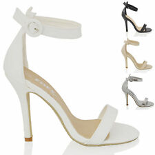 High (3-4.5 in.) Bridal or Wedding Synthetic Leather Women's Heels