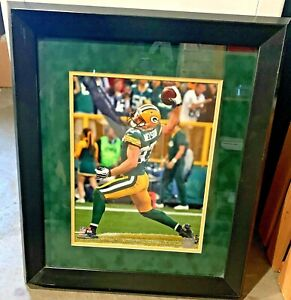 """JORDY NELSON Green Bay Packers Framed Double Matted Large Picture 22 1/2"""" X 20"""""""